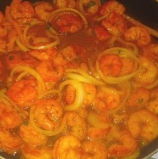 Spicy Garlic Rosemary Shrimp Pasta
