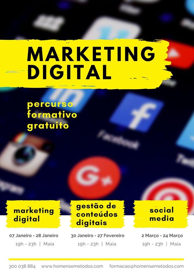 Cursos gratuitos na Maia (Marketing Digital | Fotografia)