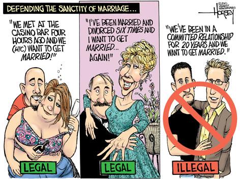 Anti heterosexual marriage vs homosexual marriage