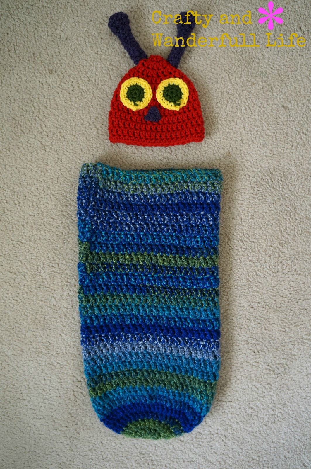 40cba6b80 Crafty And Wanderfull Life: Crochet: Very Hungry Caterpillar Cocoon ...