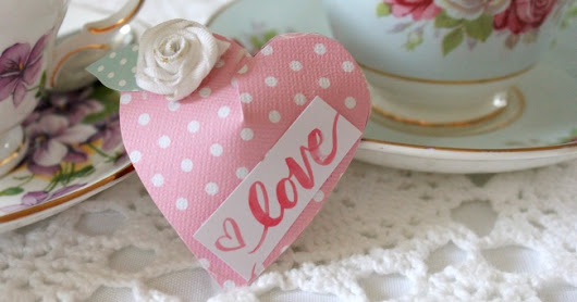 Beautiful Paper Hearts for Valentine's Day With Hidden Chocolate Candy Inside
