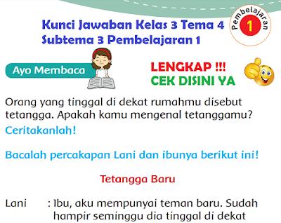 Kunci Jawaban Kelas 3 Tema 4 Subtema 3 Pembelajaran 1 www.simplenews.me