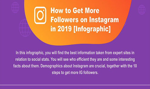 HOW TO GET MORE FOLLOWERS ON INSTAGRAM IN 2019 #INFOGRAPHIC