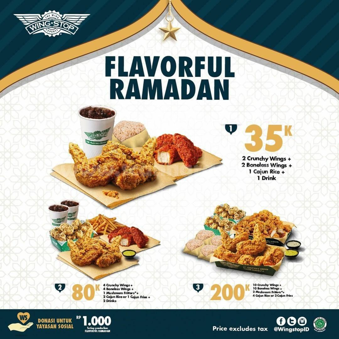 WINGSTOP Promo Paket Flavorful Ramadan Mulai 35K