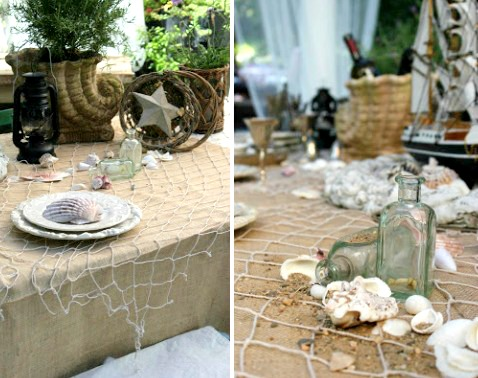 nautical summer tablescape decor ideas