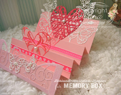 valentine's step card side view