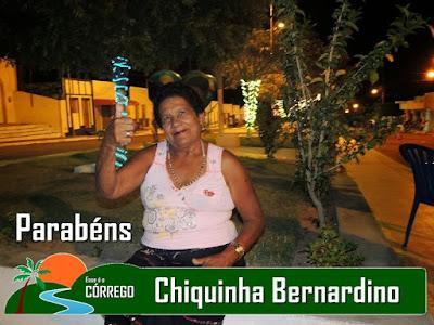 Parabéns para Chiquinha Bernardino