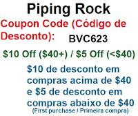 pipingrock brasil piping rock brasil importação direto de fábrica  vitaminas suplementos coupon code código descontos