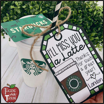 Gift tags for teacher gifts