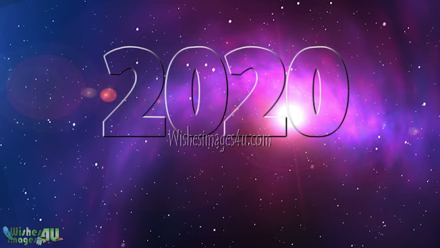 Happy New Year 2020 1080p Pictures With Sparkling Background Free Download