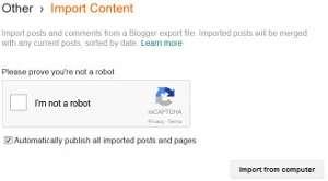 import blogger backup file tutorial