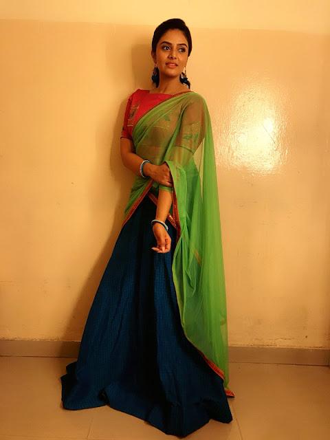 Sreemukhi Latest Stills for Gold Rush Zee Telugu TV Show