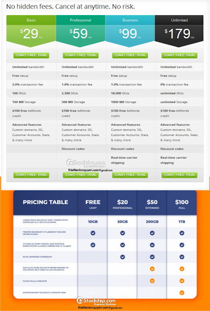 comparison-table-price-chart-template-business-plan-pricing-grid-web-banner-checklist-design-templat free download