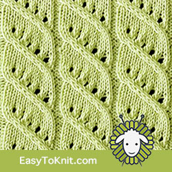 Twist Cable 8: Columns and Twists | Easy to knit #knittingstitches #knittingpatterns