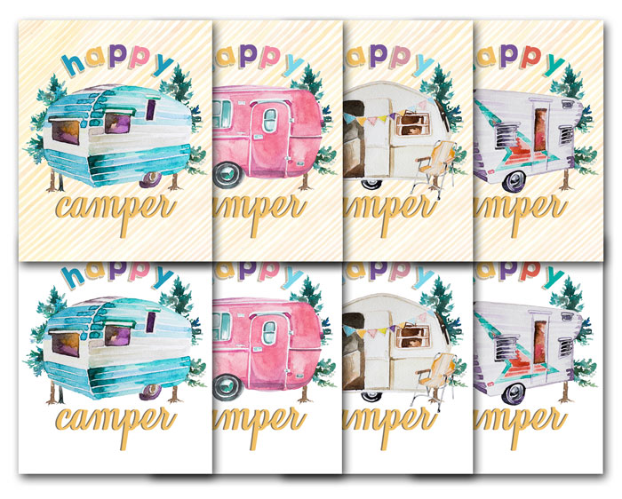 Free Happy Camper Printables
