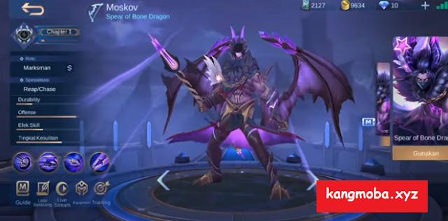 Script Skin Epic Moskov Twilight Dragon Full Effect + Voice Mobile Legends