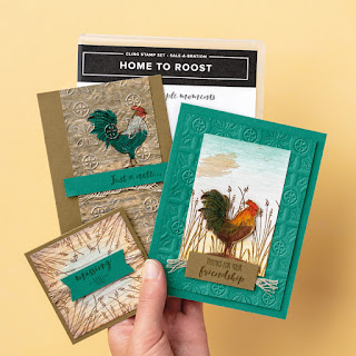 Stampin' Up! Home to Roost Card ~ 2019 Sale-a-Bration ~ FREE with $50 order