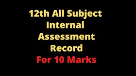 12th All Subject Internal Assessment Record