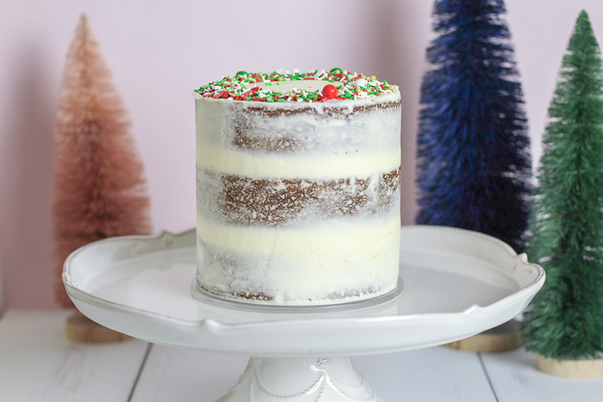 Gingerbread Cake with Bourbon Cream Cheese Frosting
