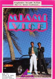 Carátula del videojuego Miami Vice de 1989 (Capstone Software)