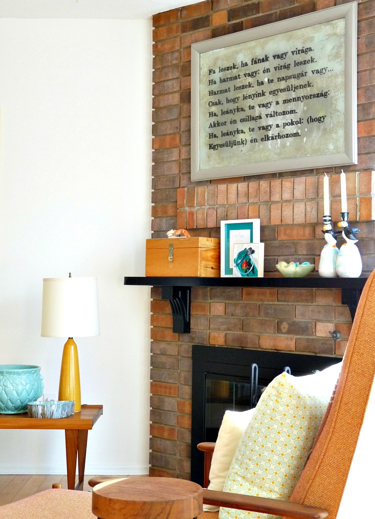 How to decorate a brick fireplace mantle