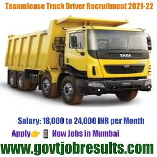 Teamlease Truck Driver Recruitment 2021-22