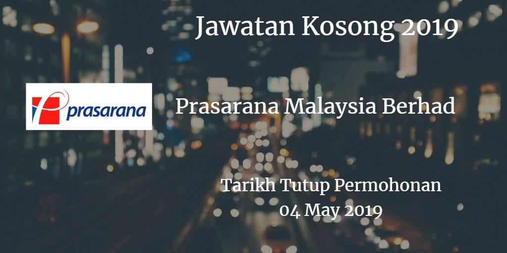Jawatan Kosong Prasarana Malaysia Berhad 04 May 2019