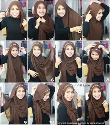 Tutorial Style Hijab Pashmina With Headband