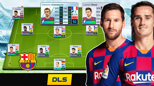 FC Barcelona 2019-20 New Team Kits, Logo & Players in Dream League Soccer