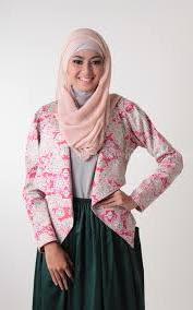 Baju Blazer Batik Kerja Muslim Modern