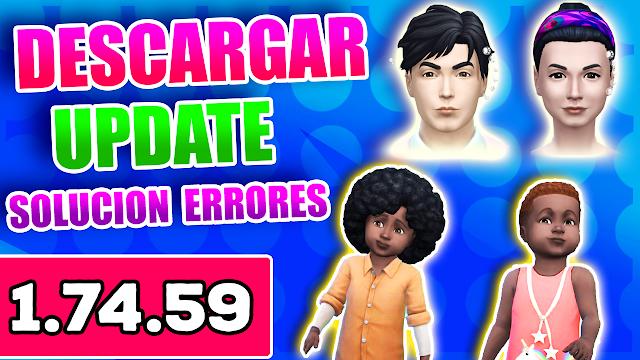 los sims 4 actualizacion 1.74.59 español
