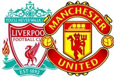escudos liverpool y manchester united
