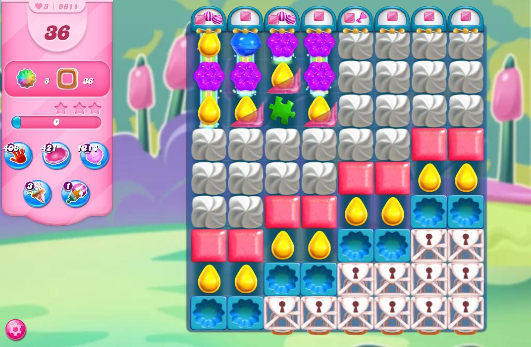 Candy Crush Saga level 9611