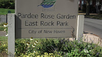 The Welcome sign, Pardee Rose Garden - East Rock Park, New Haven, CT