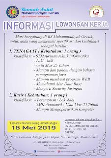 Karir Lowongan Kerja RS Muhammadiyah Gresik 2020 Jl KH Kholil