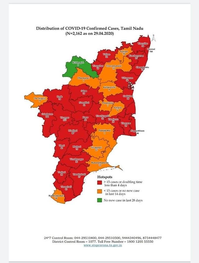 கொரோனா - உங்கள் மாவட்டம் சிவப்பு, ஆரஞ்சு, பச்சை எந்த நிறத்தில் உள்ளது தெரியுமா