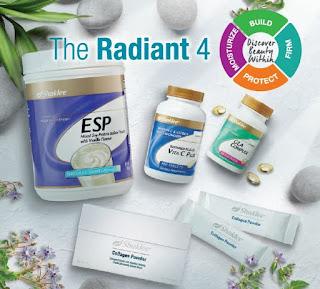 set kulit berseri; vitamin kulit berseri; radian 4 Shaklee; agent shaklee sah; Shaklee malaysia; Shaklee sarawak