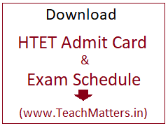 image : Download HTET Admit Card 2019 Exam Schedule November 2019 @ TeachMatters