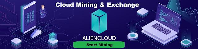 AlienCloud minería y Exchange