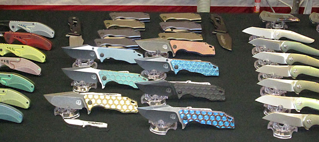 Knives of the blade show, assortment of knives