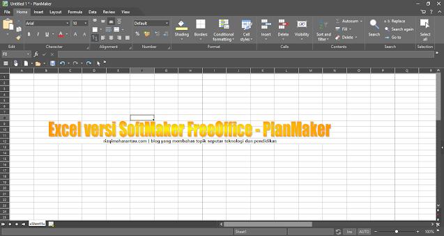 Tampilan SoftMaker FreeOffice - PlanMaker