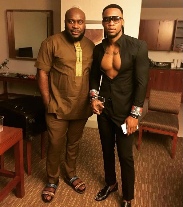 Dearies....caption this photo of Flavour N'abania with a friend