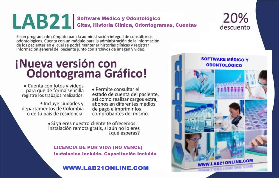 Software Médico y Odontológico Lab21