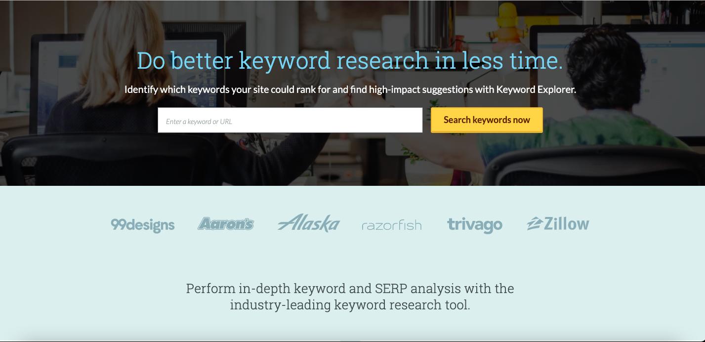 moz keyword tool