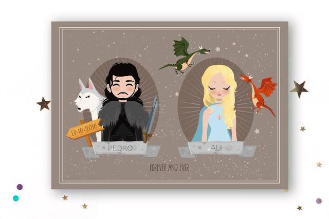 invitacion boda juego de tronos - game of thrones wedding