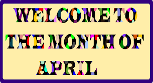 HAPPY NEW MONTH TO YOU ALL........... WELCOME TO APRIL #staysafe