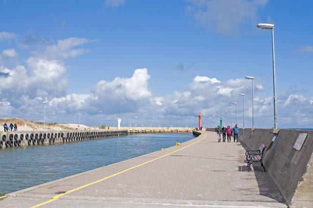port w Łebie, jak wygląda, co zobaczyć, spacer