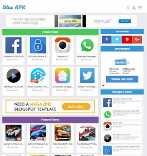 Play Store Blogger Template - App Download Template