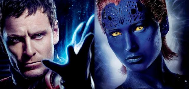 Michael Fassbender como Magneto y Jennifer Lawrence como Mística en la nueva trilogía de X-Men