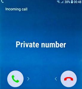 مكالمة من رقم مجهول على Android